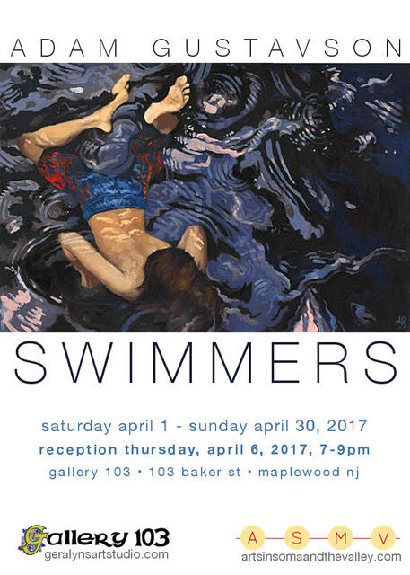 Swimmers Postcard
